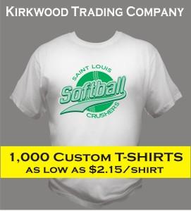 1000 custom t-shirts cheap