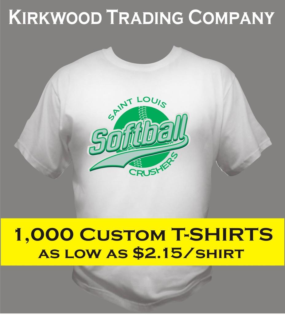 1000 Custom T Shirts Cheap