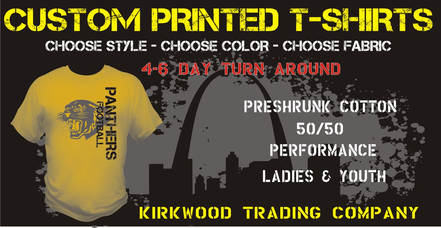 Custom printed t shirts in st louis missouri kirkwood for Custom t shirt company