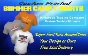 Custom Printed Summer Camp T-shirts