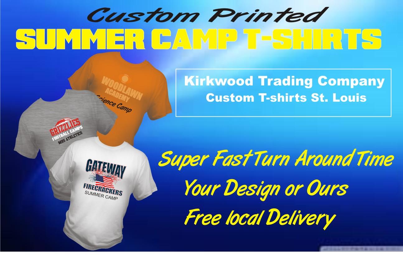 Custom summer camp t shirts kirkwood trading company for St louis t shirt printing