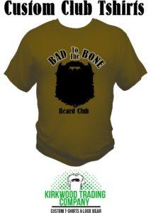 custom beard club tshirts