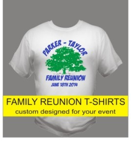 custom family reunion t--shirts