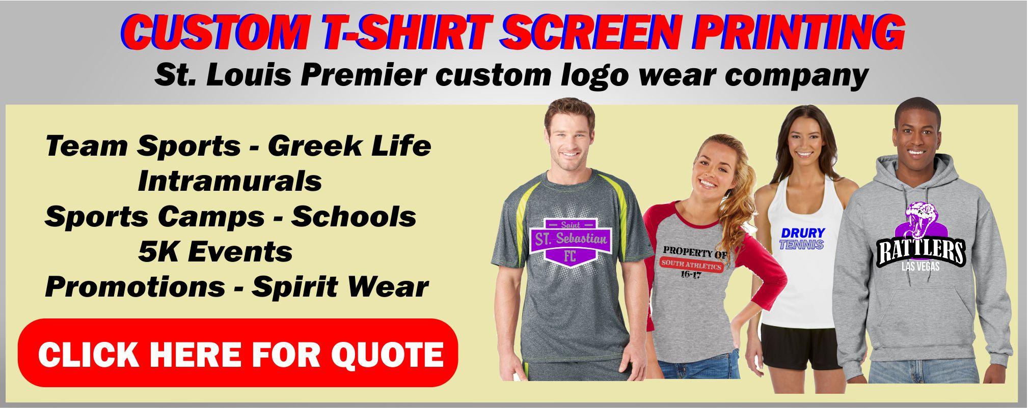 Custom t shirt screen printing st louis kirkwood trading for St louis t shirt printing