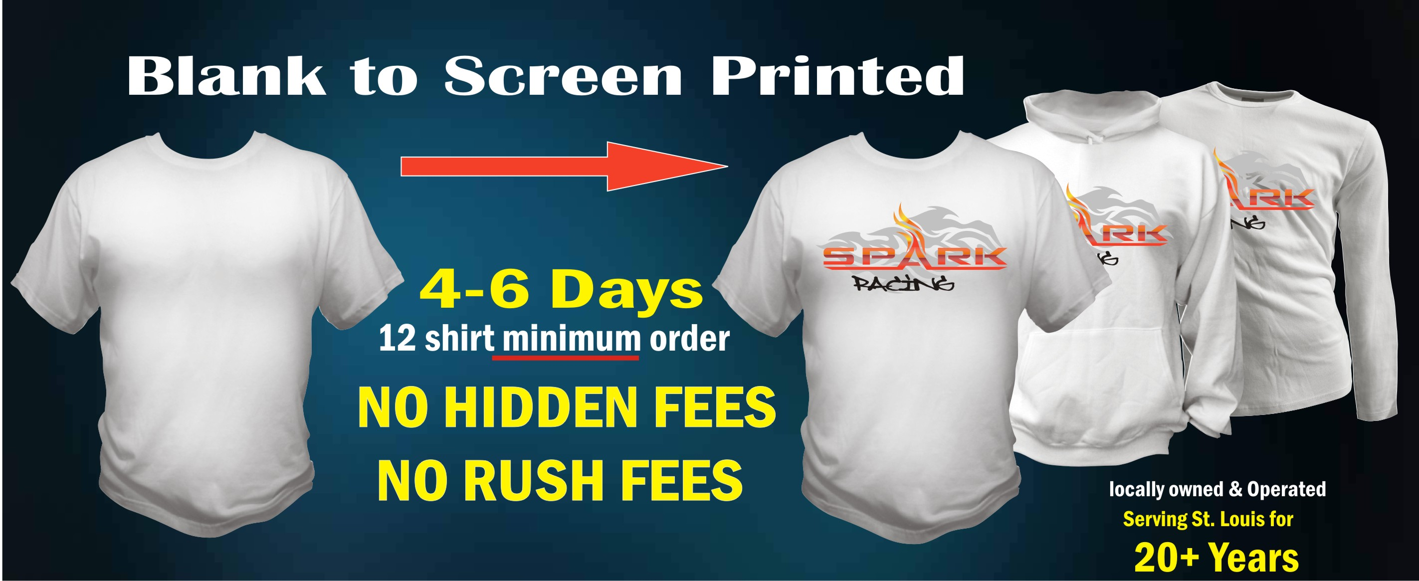 Kirkwoood trading company custom t shirts st louis for St louis t shirt printing