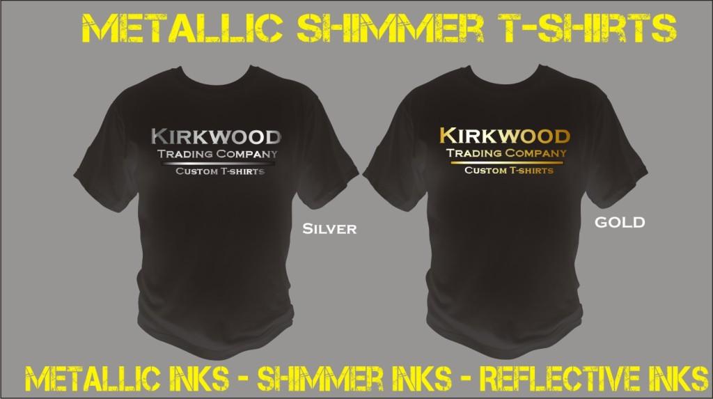 Custom metallic shimmer t shirt printing for Custom t shirt company