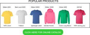 popular styles for custom t shirt screen printing