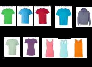 most popular t-shirt styles