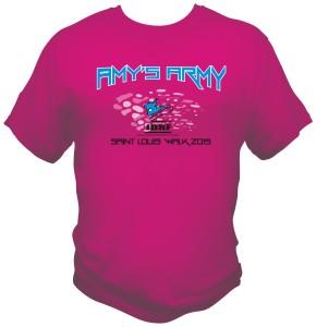 Custom JDRF printed t-shirts