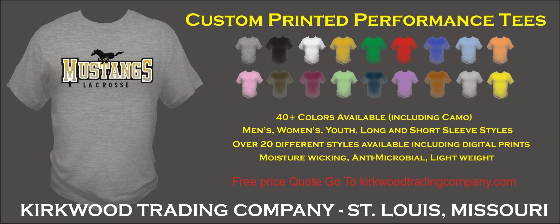 Custom Printed Performance T Shirts Kirkwood Trading