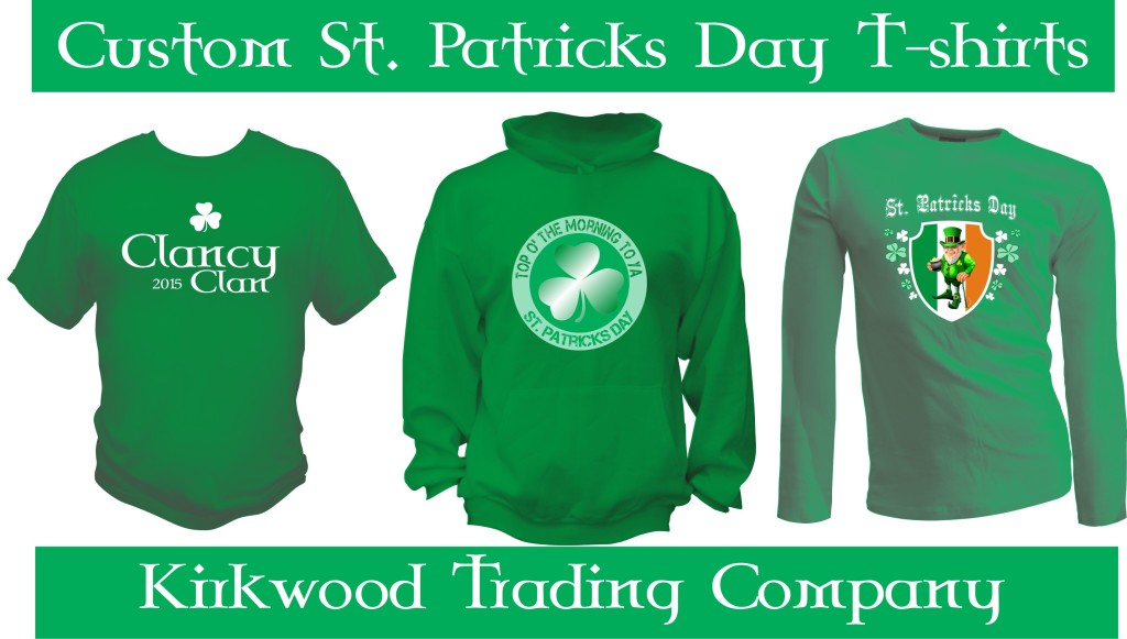 custom printed  St. Patricks Day T-shirts