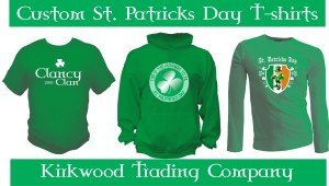 custom printed St. Patricks Day T-shirts