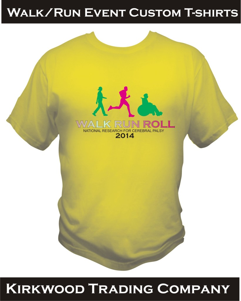 Walk Run Event Custom T-shirts