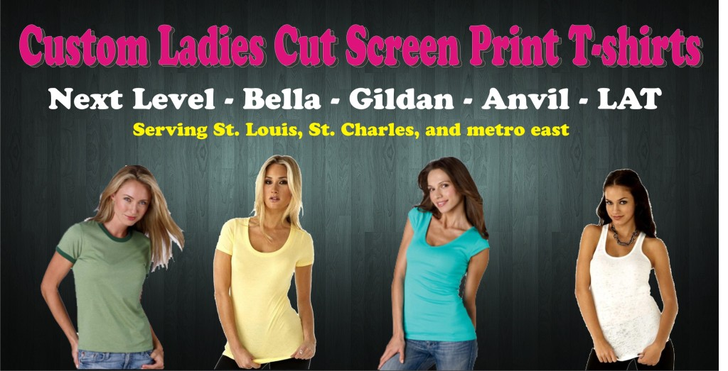 custom printed ladies cut t-shirts