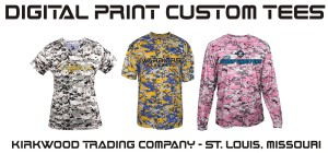 digital print custom tees at Kirkwood Trading Company