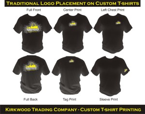 logo placement guide for custom t-shirts