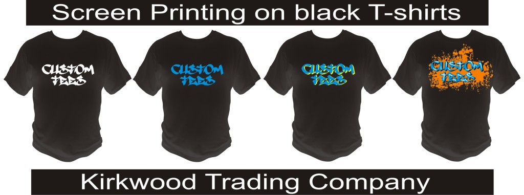 screen printing on black t-shirts
