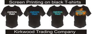 screen printing on black t-shirts