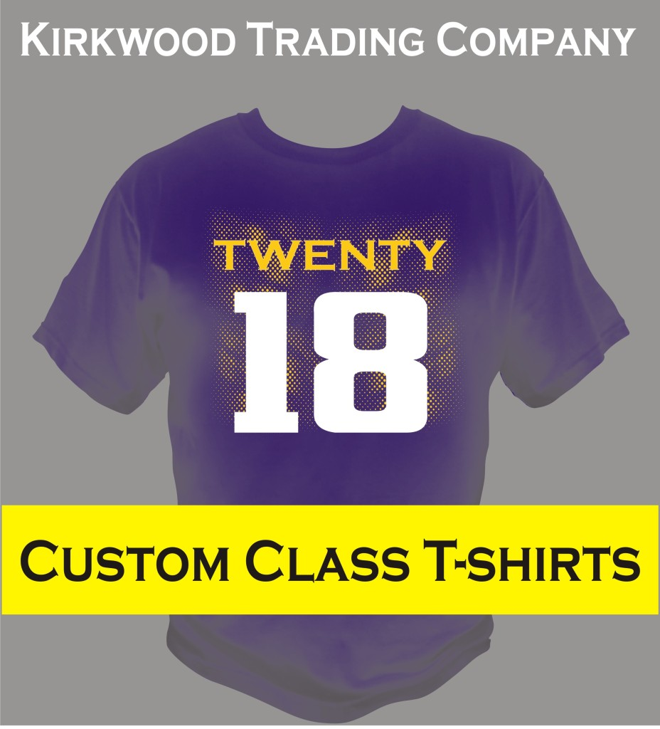 Custom class t shirts kirkwood trading company for T shirts online custom