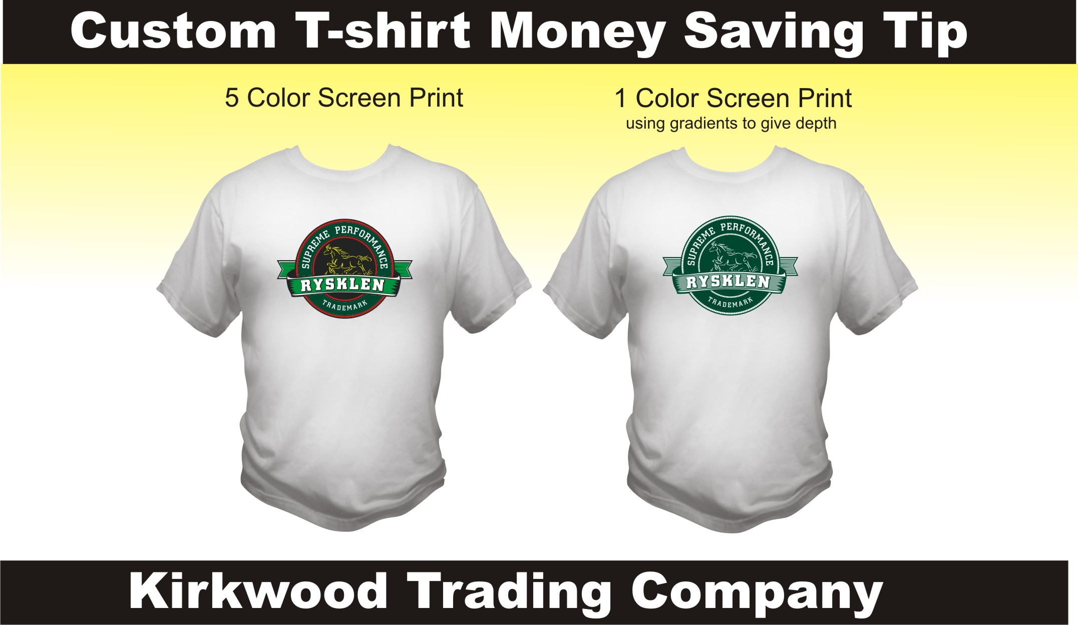 Custom T Shirt Money Saving Tips Kirkwood Trading Company