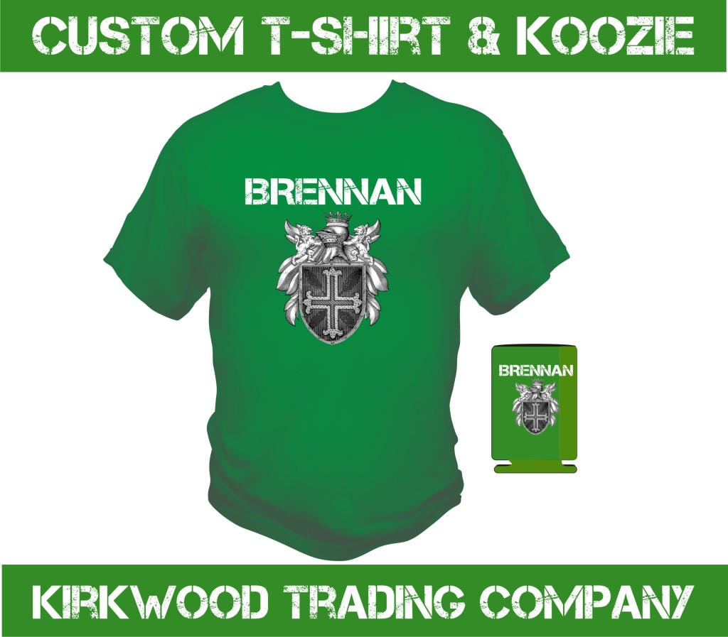 St Patricks Day Custom T Shirt And Koozie Kirkwood Trad