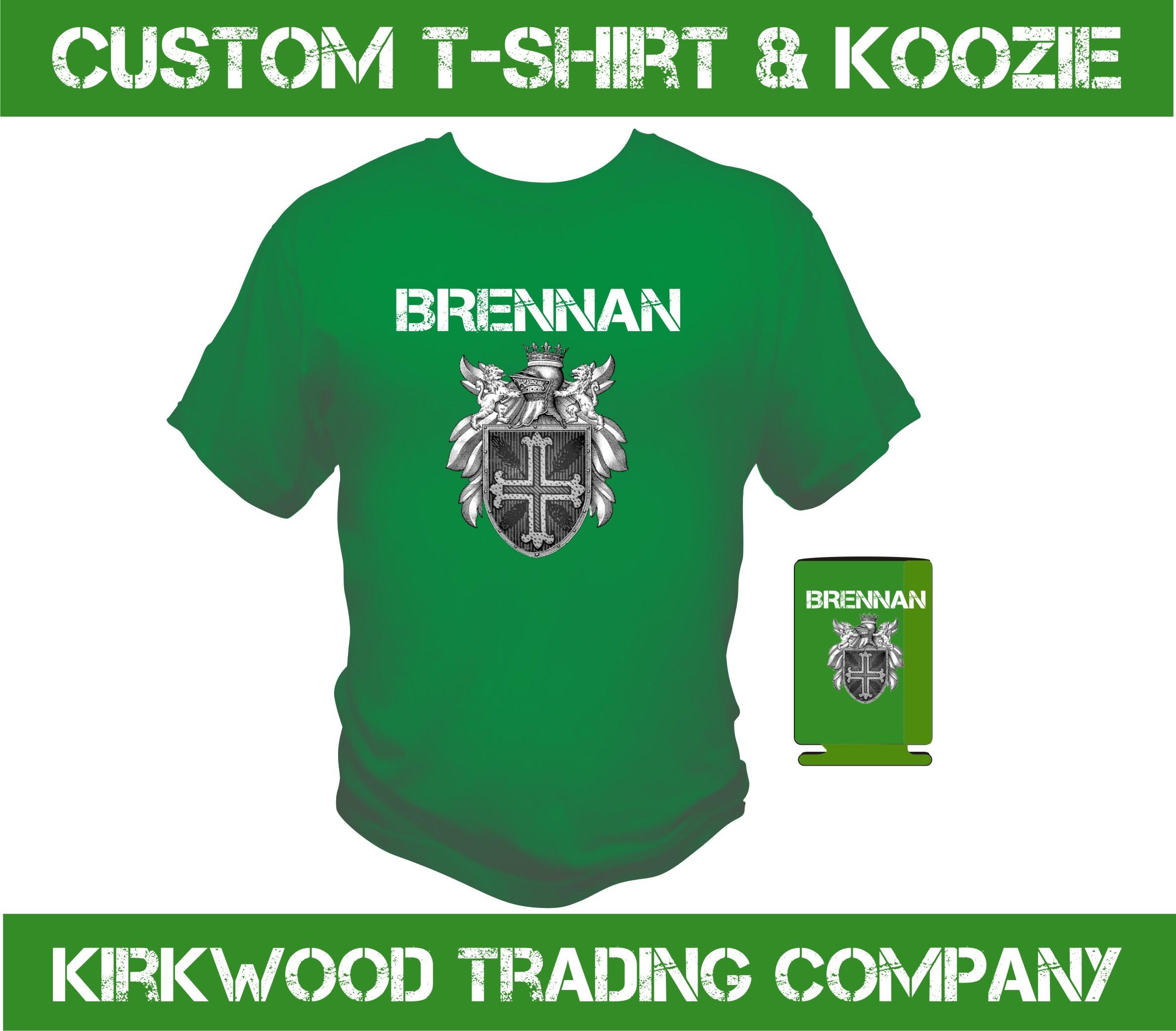 St patricks day custom t shirt and koozie kirkwood trad for Custom t shirt company