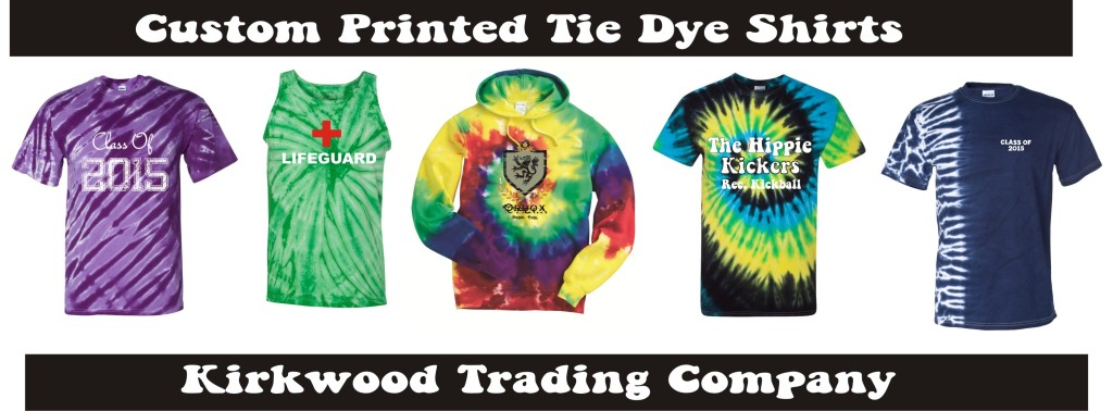 custom printed tie dye shirts