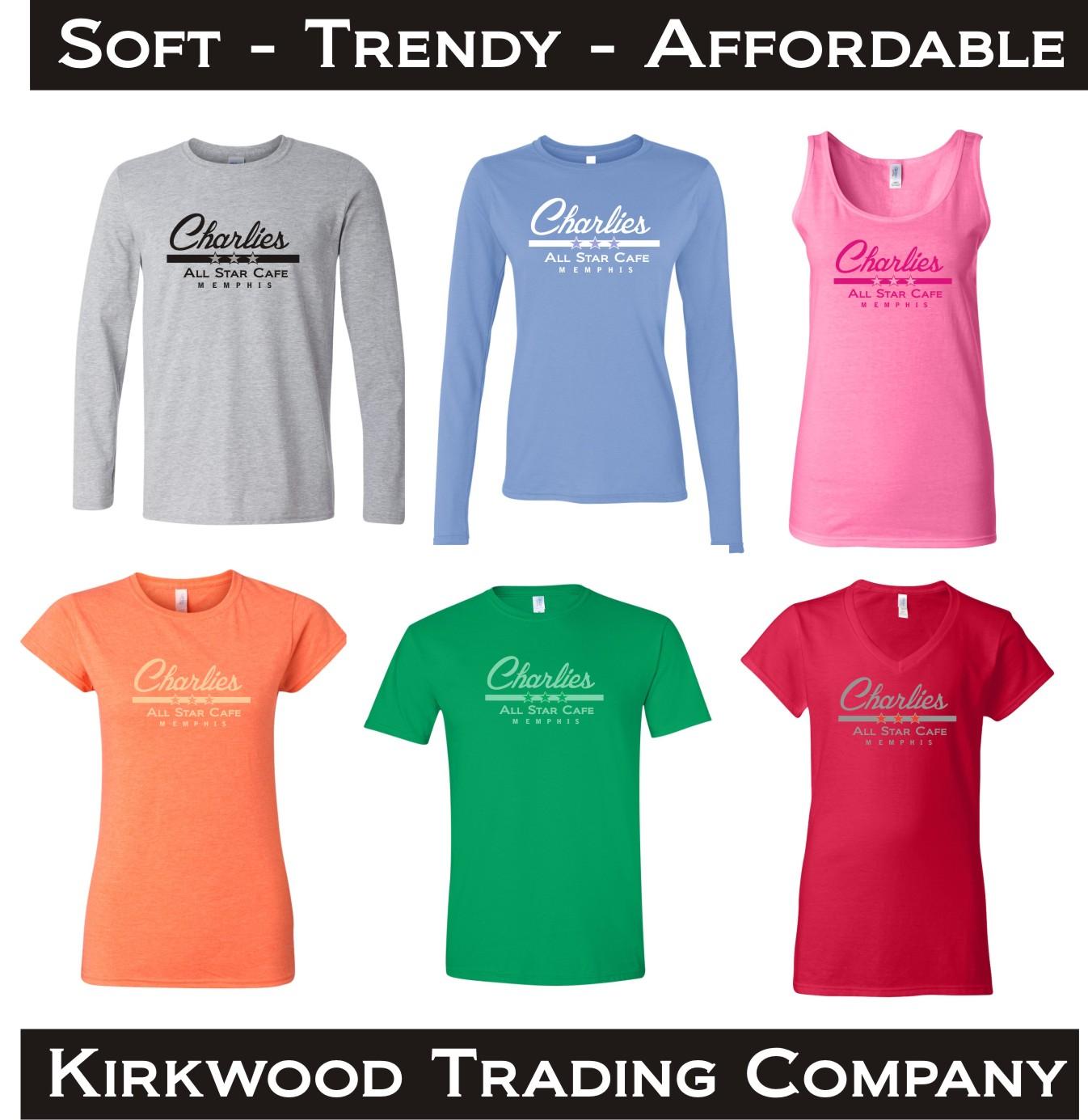 Great softstyle custom t shirts kirkwood trading company for Soft custom t shirts