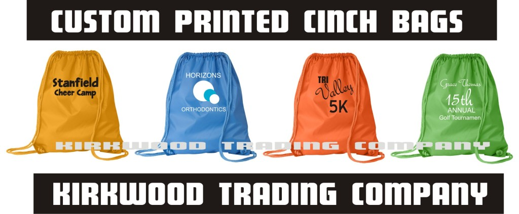 custom printed cinch bags