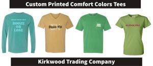 Custom printed custom colors tees