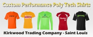 custom printed performance poly tech shirts