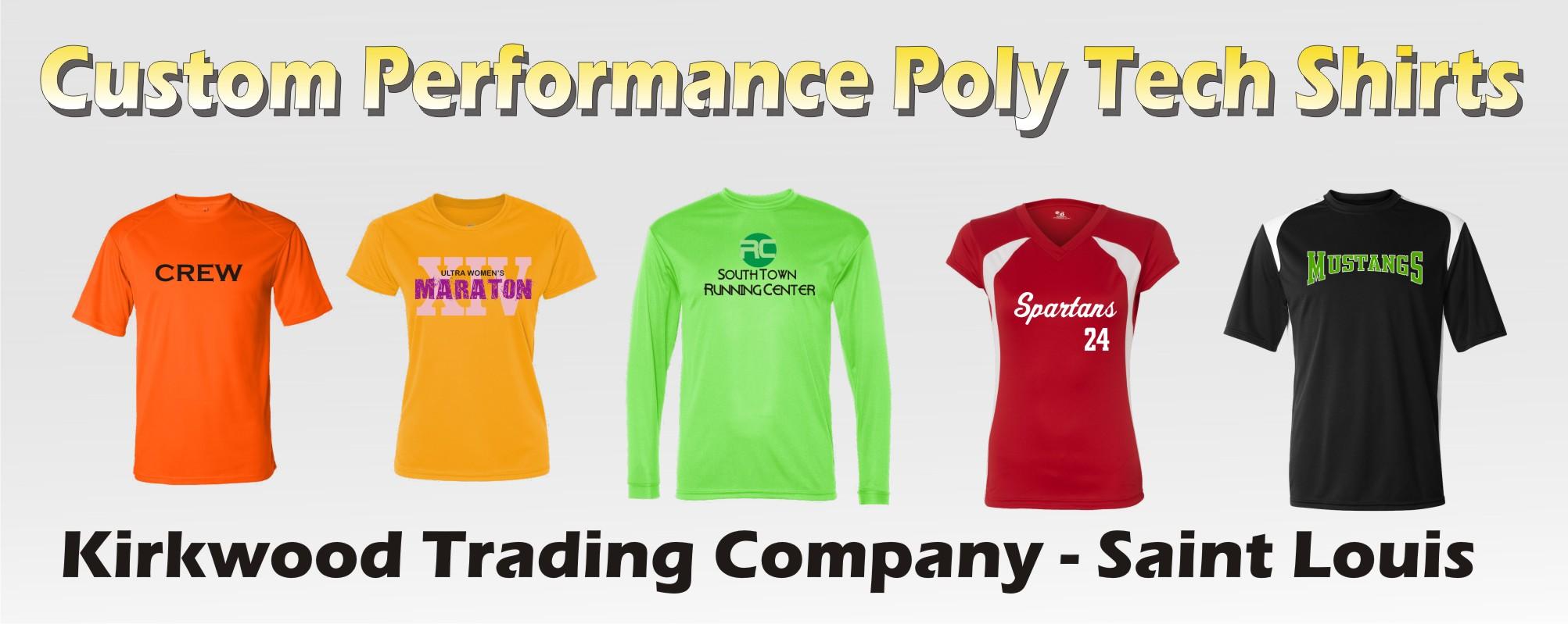 Custom Printed Performance Poly Tech Shirts Kirkwood