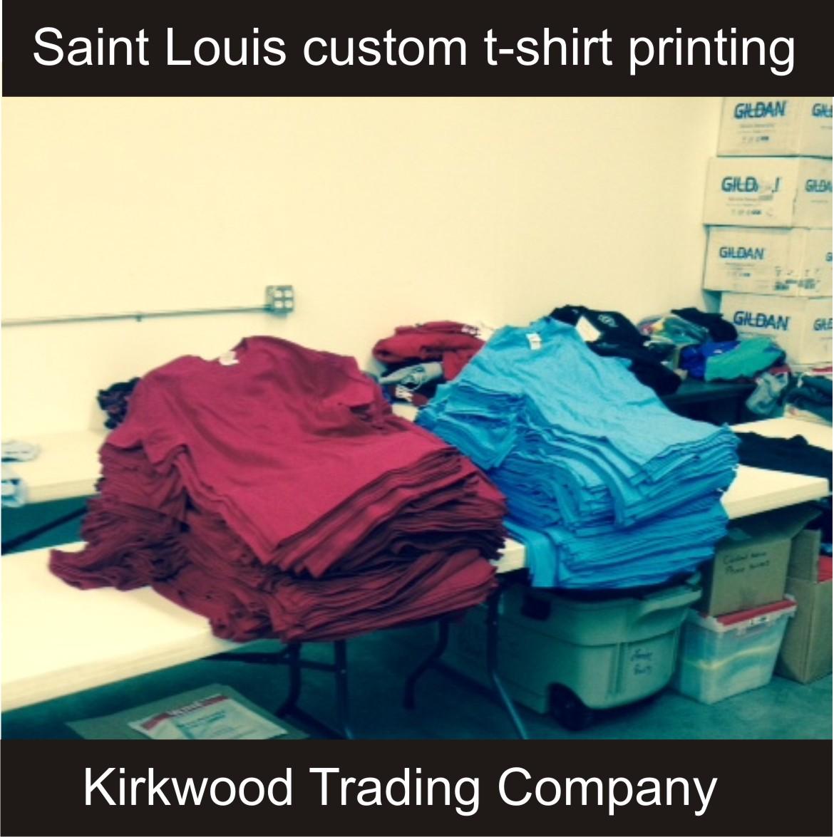 Custom t shirt printing kirkwood trading company for St louis t shirt printing
