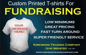 custom printed fundraising t-shirts
