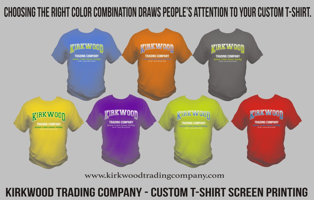 Choosing the right custom t-shirt color