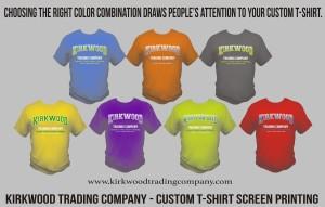Choosing the right custom t-shirt color