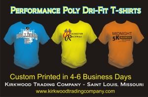 Performance Poly Dri-fit t-shirts