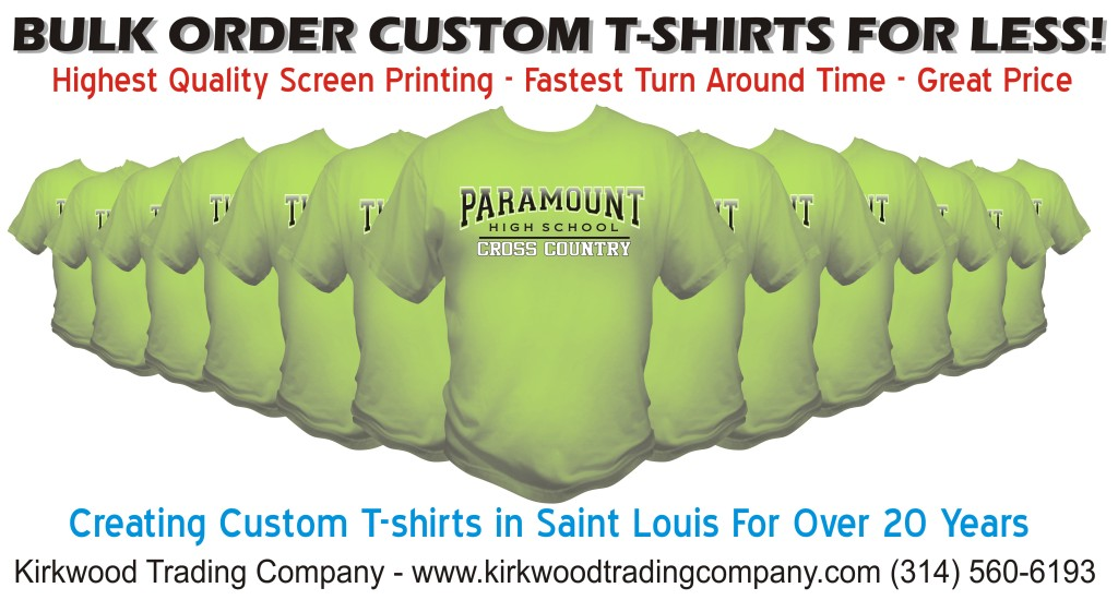 bulk order custom t-shirts for less