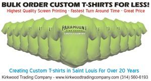 bulk order custom t-shirts for less