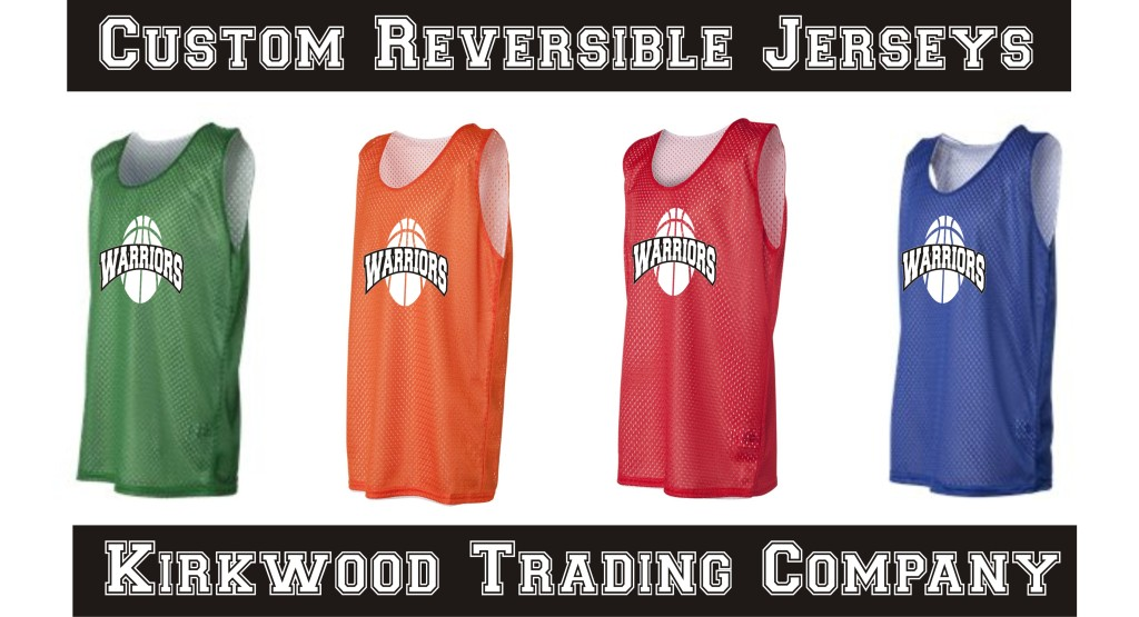 Custom printed reversible jerseys