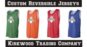 Custom printed reversible jerseys