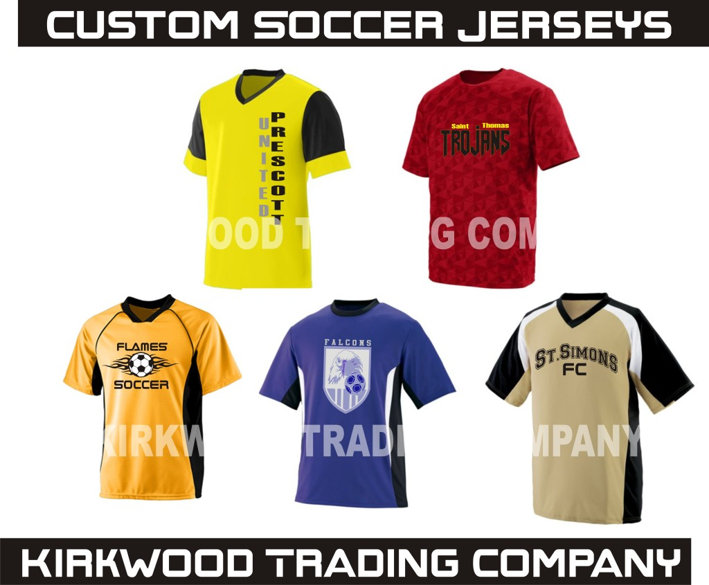 custom printed soccer jerseys