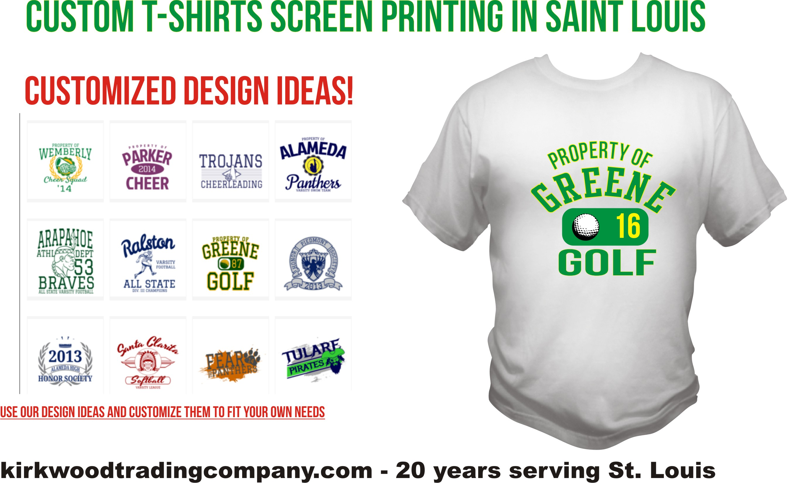 T Shirt Design Templates St. Lous | Kirkwood Trading Co