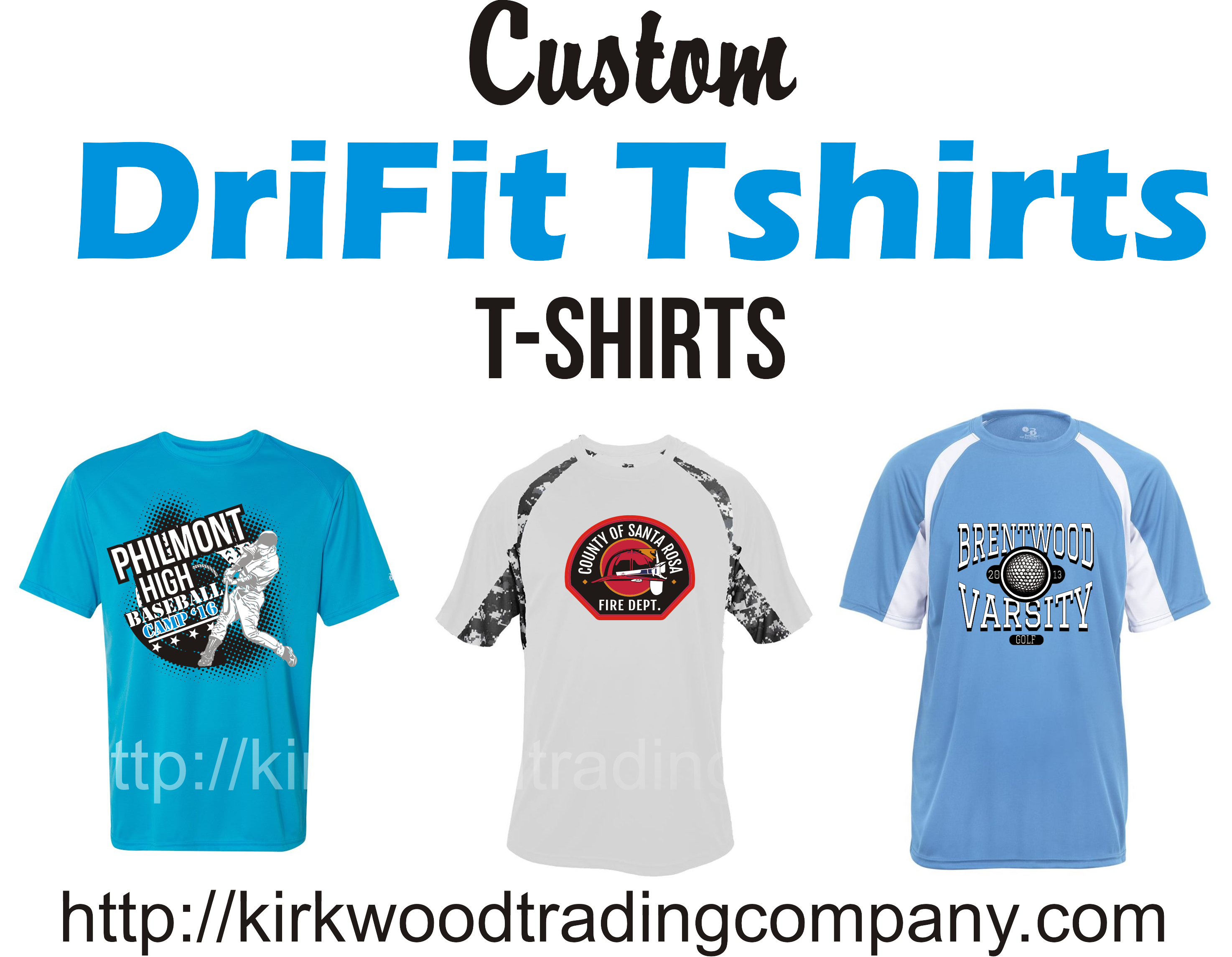 custom dri fit tshirts in St. Louis - Kirkwood Trading Co