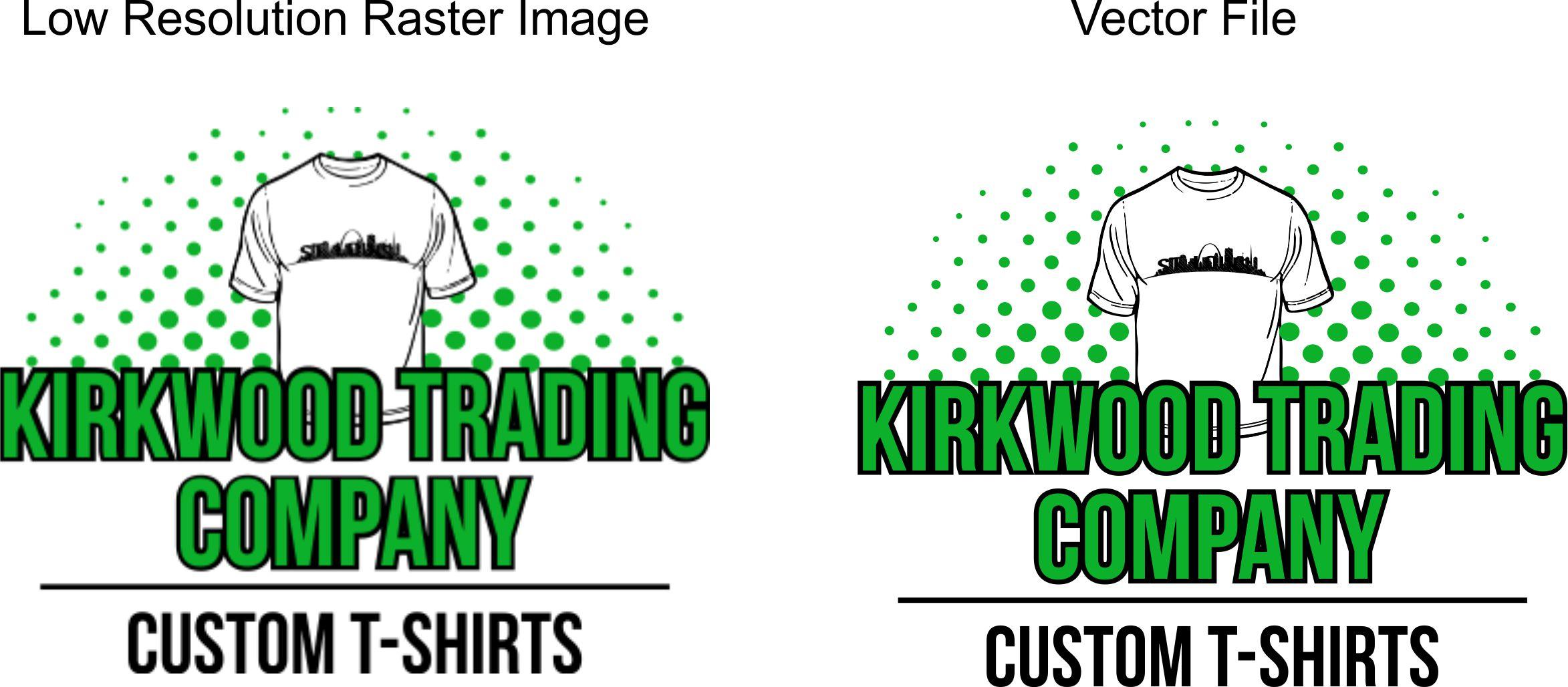 Proper artwork for custom t shirts kirkwood trading company for Custom t shirt company