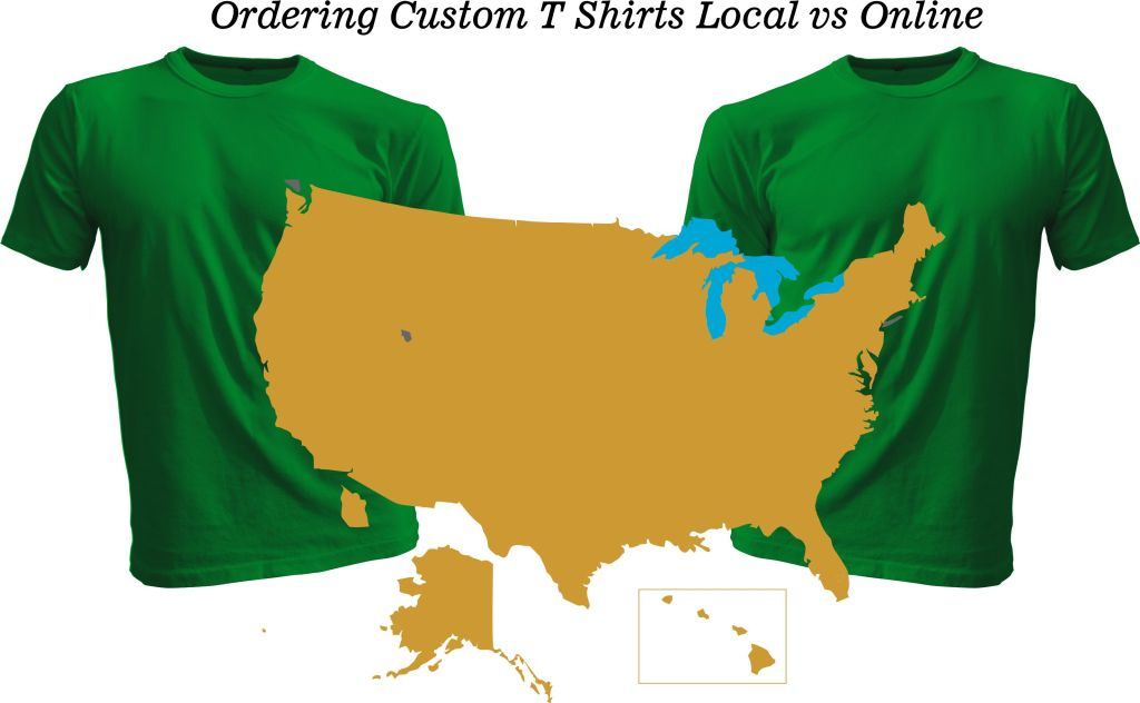 Custom T-shirts Local vs online