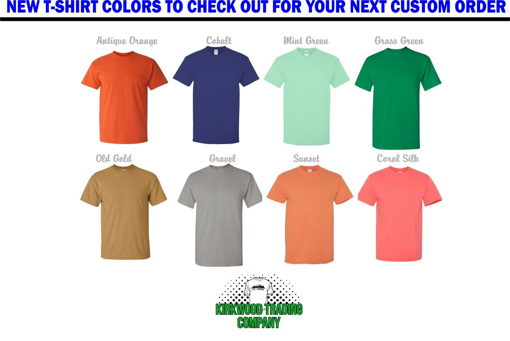 New Custom T-shirt Colors
