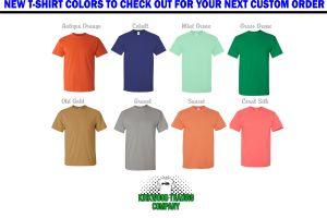 New Custom T-shirt Colors