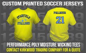 custom printed soccery jerseys