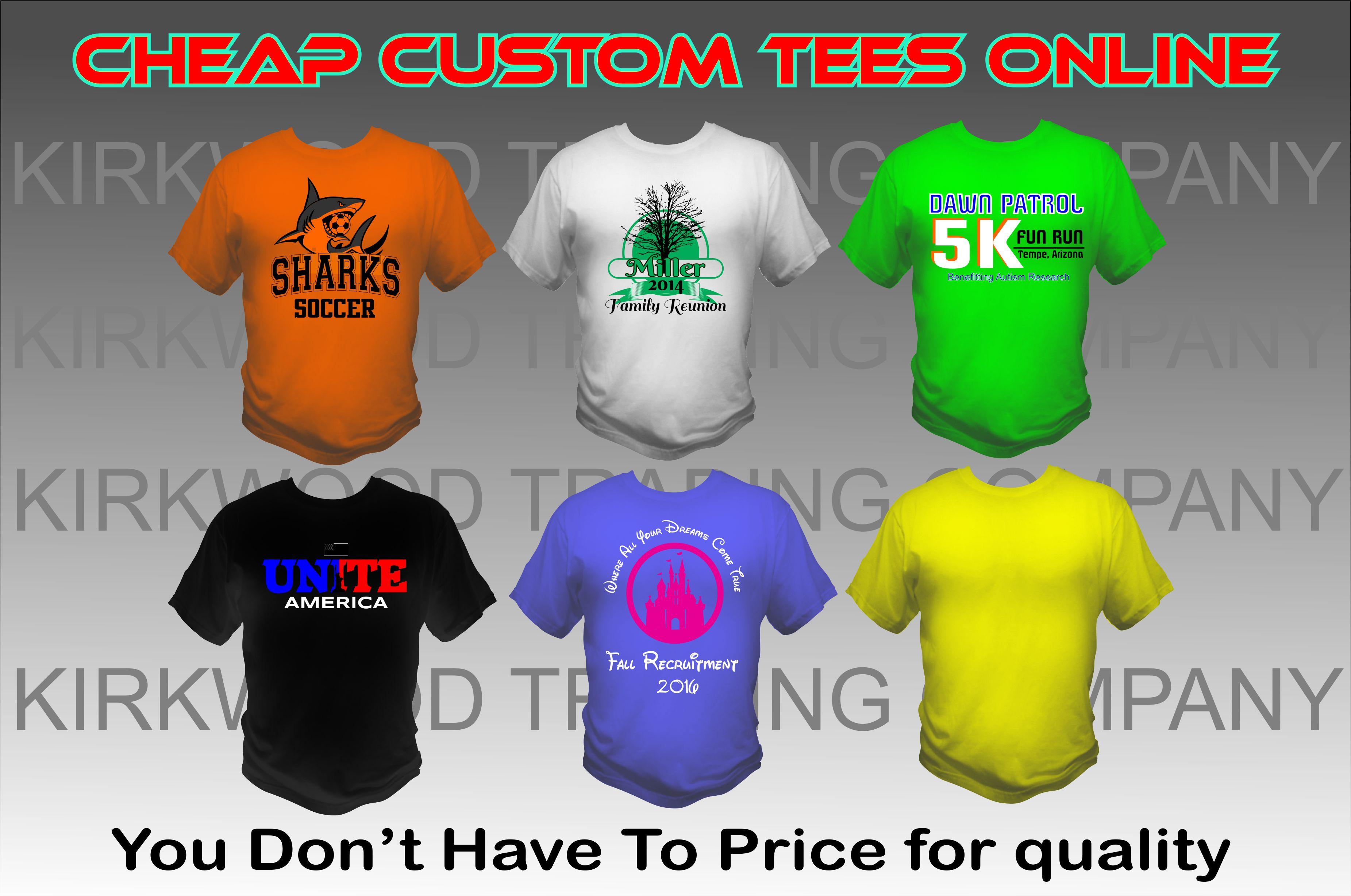 Cheap Custom Tees Online